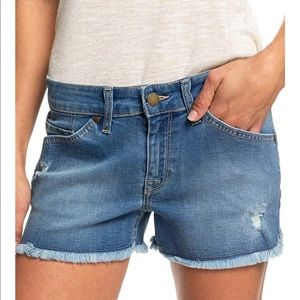 Roxy women's sweet dream denim shorts medium blue